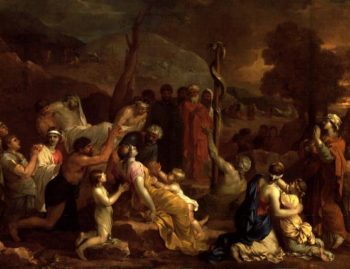 Moses and the Brazen Serpent 1653 54 | Sebastien Bourdon | oil painting