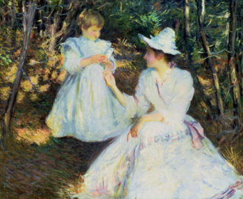 Mother and Child in Pine Woods 1893 | Edmund Charles Tarbell | oil painting