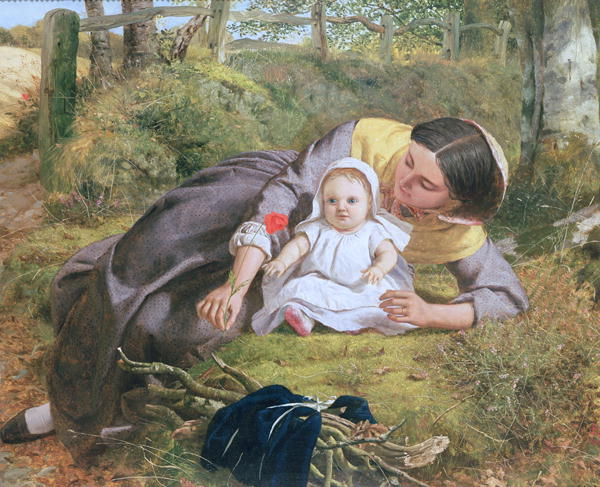 Mother and Child with a poppy | Frederick Richard Pickersgill | oil painting