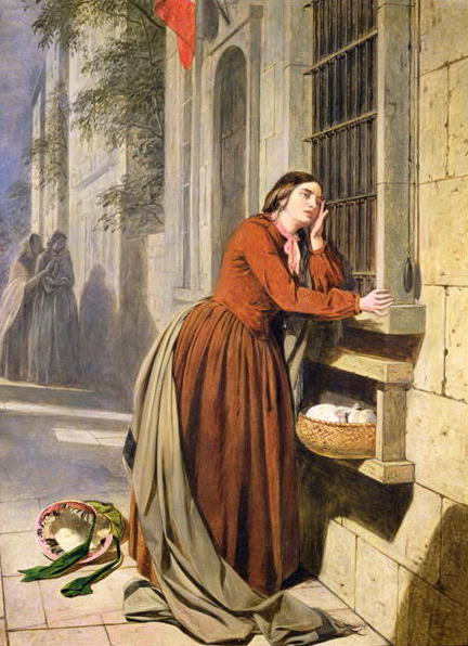 Mother Depositing Her Child in the Foundling Hospital in Paris 1855 60 | Henry Nelson O'Nei | oil painting