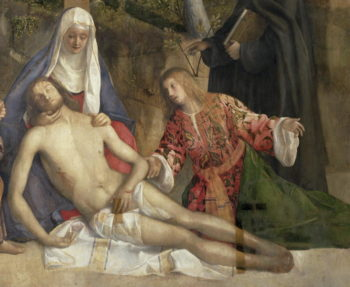 Mourning the Dead Christ at the Foot of the Cross | Giovanni Bellini | oil painting