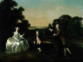 Mr and Mrs Van Harthals and Their Son 1749 | Arthur Devis | oil painting