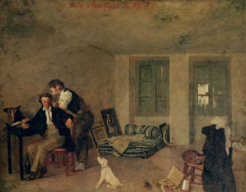 My Room in 1825 | Octave Tassaert | oil painting
