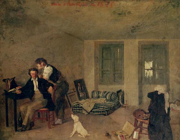 My Room in 1825 | Octave Tassaert | oil painting
