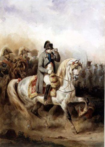 Napoleon on a Grey Horse 1839 | Joseph Louis Hippolyte Bellange | oil painting