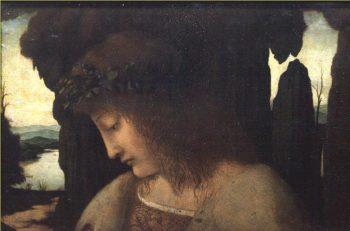 Narcissus at the Fountain | Giovanni Antonio Boltraffio | oil painting