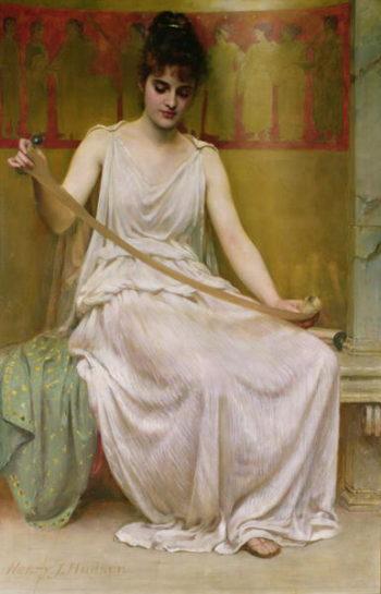 Neaera Reading a Letter from Catullus 1894 | Henry John Hudson | oil painting