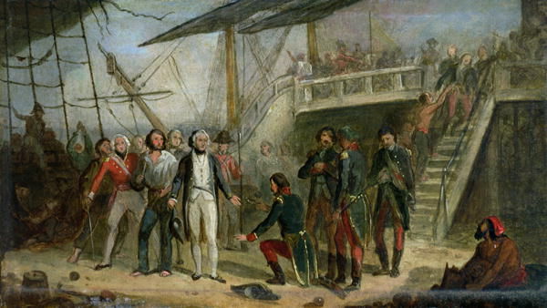 Nelson Boarding the 'San Josef' on 14th February 1797 | Thomas Jones Barker | oil painting