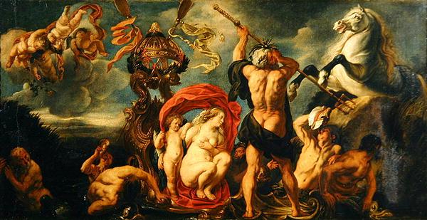 Neptune Creating the Horse | Jacob Jordaens | oil painting