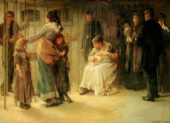 Newgate Committed for Trial 1878   Frank Holl   oil painting