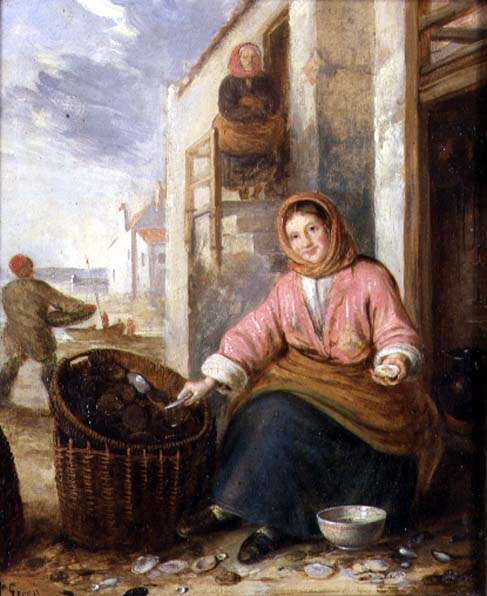 Newhaven Fishwife | Alfred H Green | oil painting