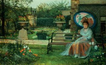 n the Plesaunce Knostrop Hall Leed 1875 | John Atkinson Grimshaw | oil painting