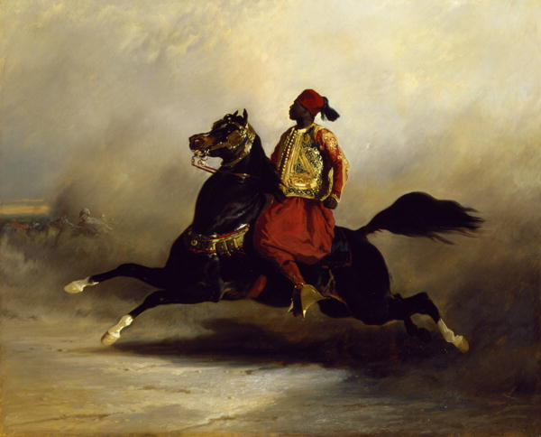 Nubian Horseman at the Gallop | Alfred Dedreux | oil painting