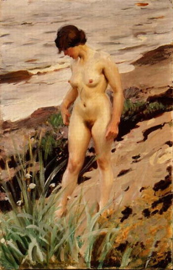 Nude by the Shore 1914 | Anders Leonard Zorn | oil painting