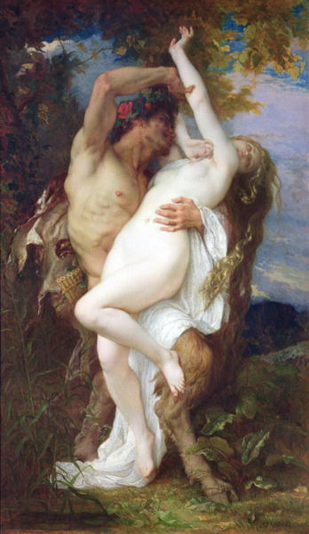 Nymph Abducted by a Faun 1860   Alexandre Cabanel   oil painting