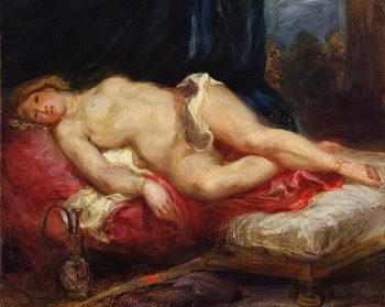 Odalisque 1825   Delacroix   oil painting