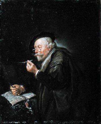 Old Man Writing 1650 | Quiringh Gerritsz van Brekelenkam | oil painting