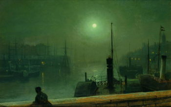 On the Clyde Glasgow 1879 | John Atkinson Grimshaw | oil painting