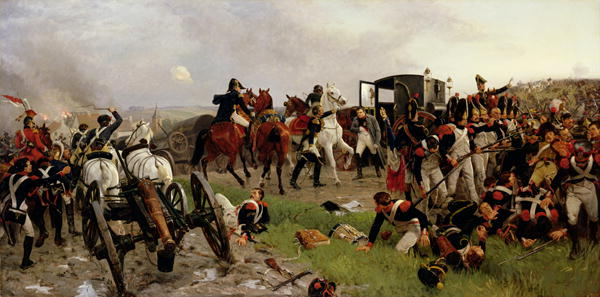 On the Evening of the Battle of Waterloo 1879 | Ernest Crofts | oil painting