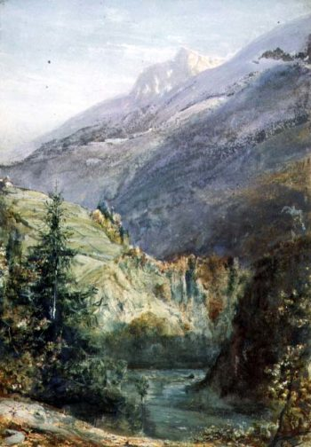 On the Road of Sepey Switzerland   John William Inchbold   oil painting