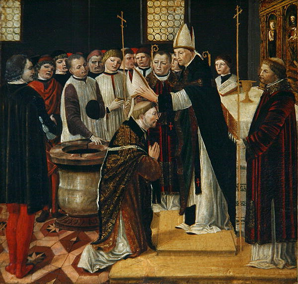 Ordination of St Augustine | Ambrogio da Fossano | oil painting