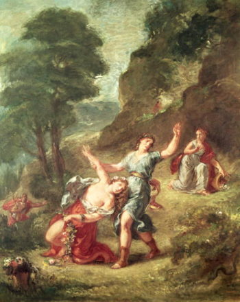 Orpheus and Eurydice Spring from a series of the Four Seasons 1862   Delacroix   oil painting