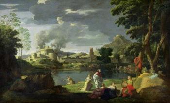 Orpheus and Eurydice   Nicolas Poussin   oil painting