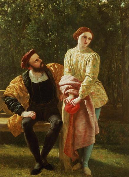 Orsino and Viola   Frederick Richard Pickersgill   oil painting