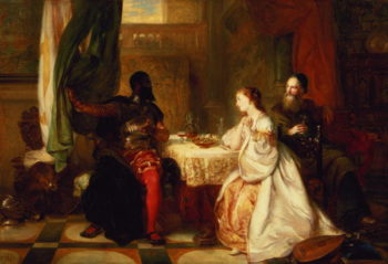 Othello Relating His Adventures to Desdemona 1869 | Robert Alexander Hillingford | oil painting