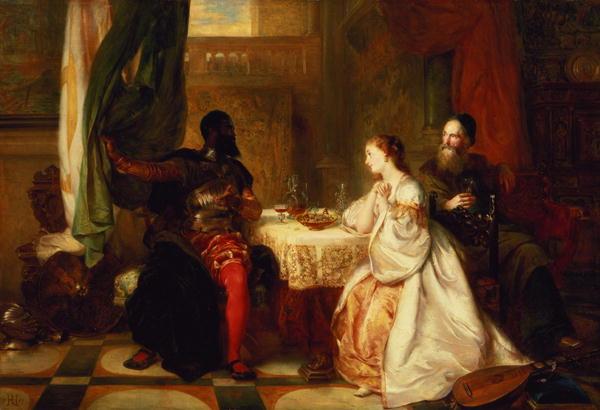 Othello Relating His Adventures to Desdemona 1869 | Robert Alexander Hillingford | oil painting