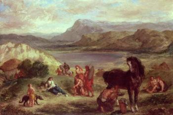 Ovid among the Scythians 1859   Eugene Delacroix   oil painting