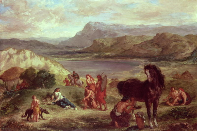 Ovid among the Scythians 1859 | Eugene Delacroix | oil painting