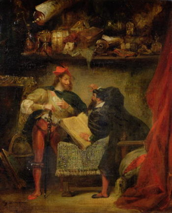 Faust and Mephistopheles 1826 27 | Delacroix | oil painting