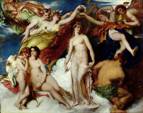 Pandora Crowned by the Seasons 1824 | William Etty | oil painting