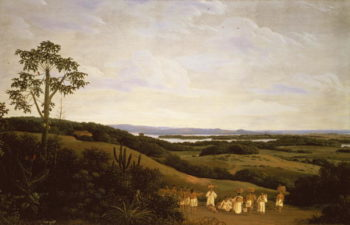 Panoramic View in Brazil with a River in the Distance | Frans Jansz Post | oil painting