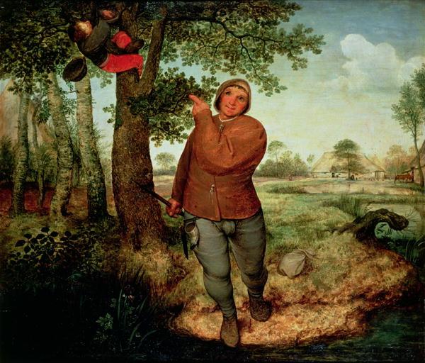 Peasant and Birdnester 1568 | Pieter the Elder Brueghel | oil painting