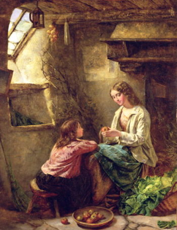 Peeling Apples | John Edward Cobbett | oil painting