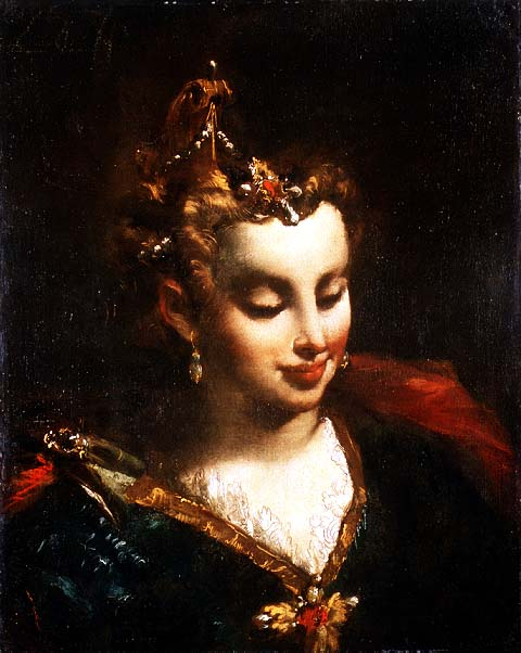Pharaoh's Daughter after Palma Il Giovane | Giovanni Antonio Guardi | oil painting