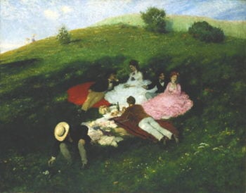 Picnic in May   Pal Szinyei Merse   oil painting