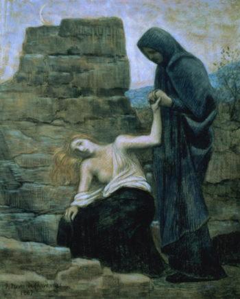 Pity 1887 | Pierre Puvis de Chavannes | oil painting