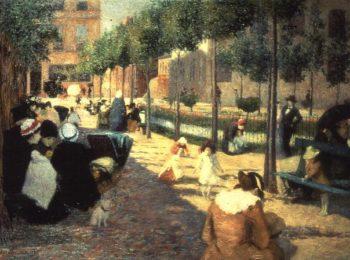 Place d'Anvers Paris 1880 | Federigo Zandomeneghi | oil painting
