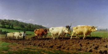 Ploughing in Nivernais 1849 | Rosa Bonheur | oil painting