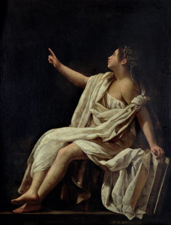 Polyhymnia the Muse of Lyric Poetry 1620 | Giovanni Baglione | oil painting