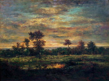Pond at the Edge of a Wood | Theodore Rousseau | oil painting