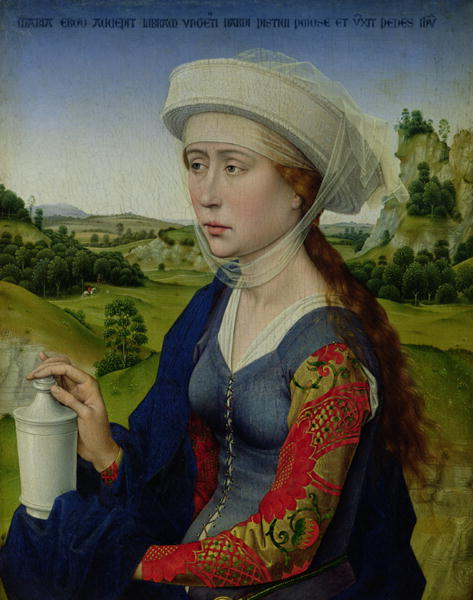 Mary Magdalene, from the right hand panel of Triptych of the Braque Family | Rogier van der Weyden