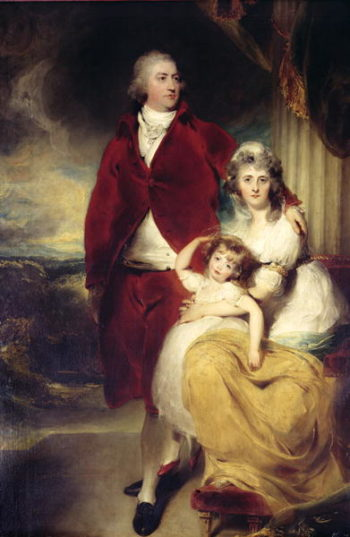 Henry, 10th Earl and 1st Marquess of Exeter his wife Sarah and daughter Lady Sophia Cecil