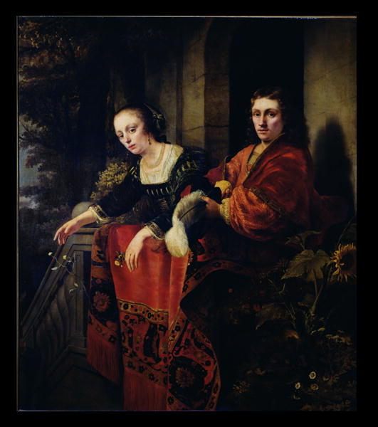 Portrait of a Husband and Wife 1654 | Ferdinand Bol | oil painting