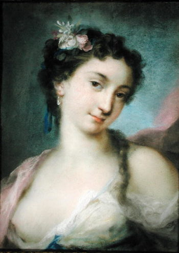 Portrait of a Lady as Flora | Rosalba Giovanna Carriera | oil painting