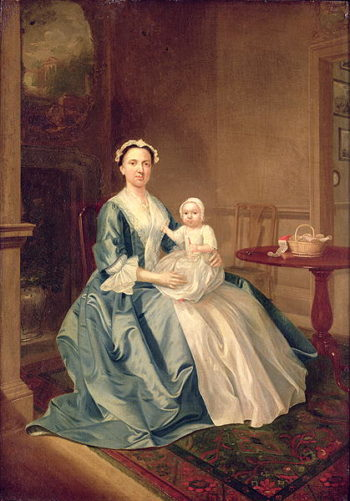 Portrait of a lady of the Lister family and Child | Arthur Devis | oil painting