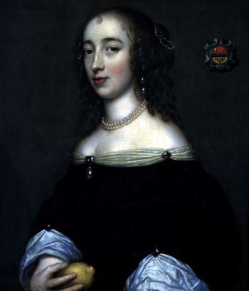 Portrait of a Lady possibly Margaret Lemon 1665 | Adriaen Hanneman | oil painting